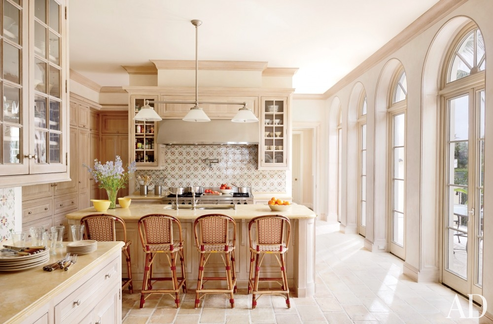 traditional-kitchen-david-easton-inc-palm-beach-florida retro french style kitchen brick floor better decorating bible blog