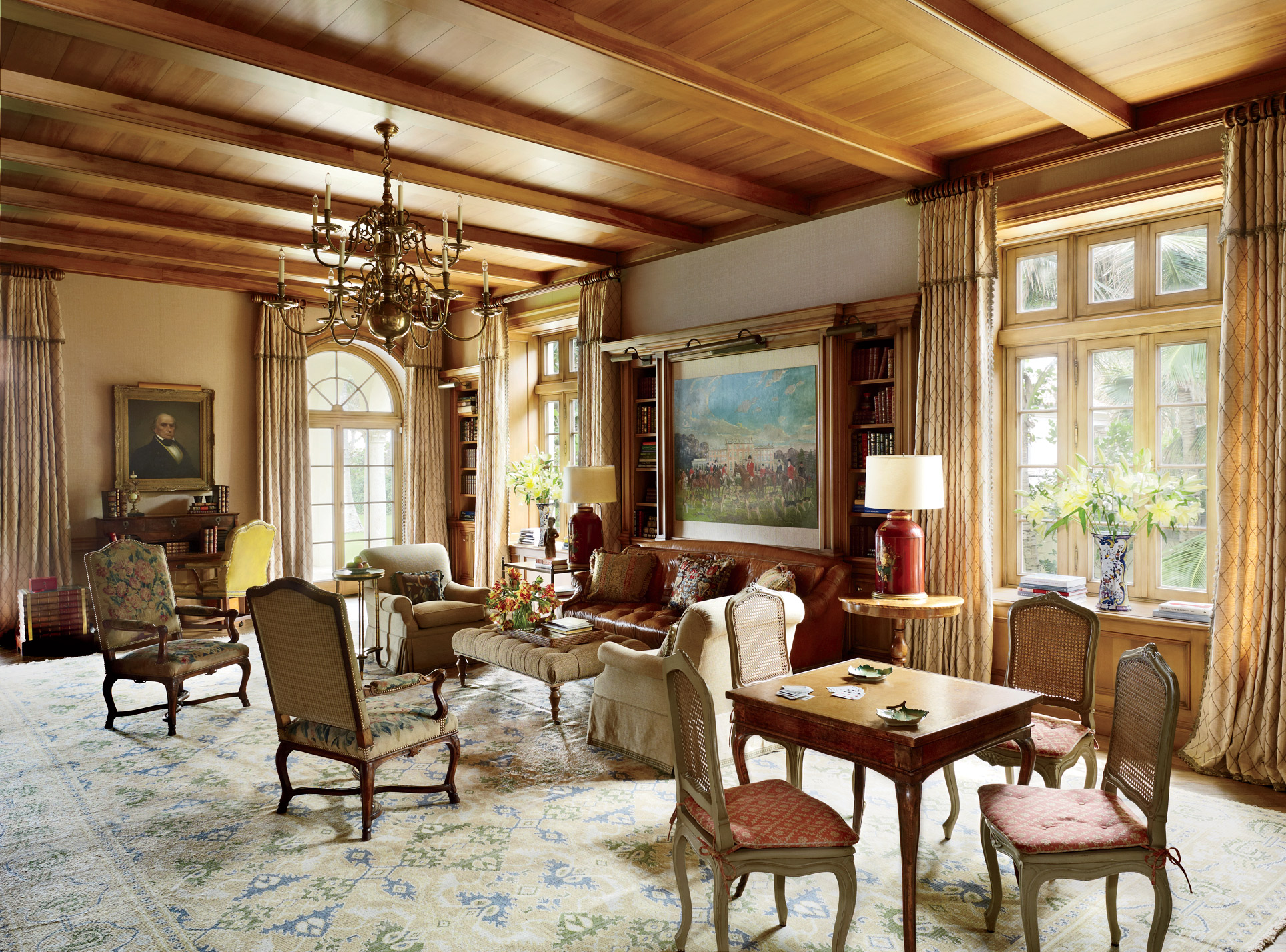 traditional-office-library-david-easton-inc-palm-beach-florida residence mansion better decorating bible blogjpg