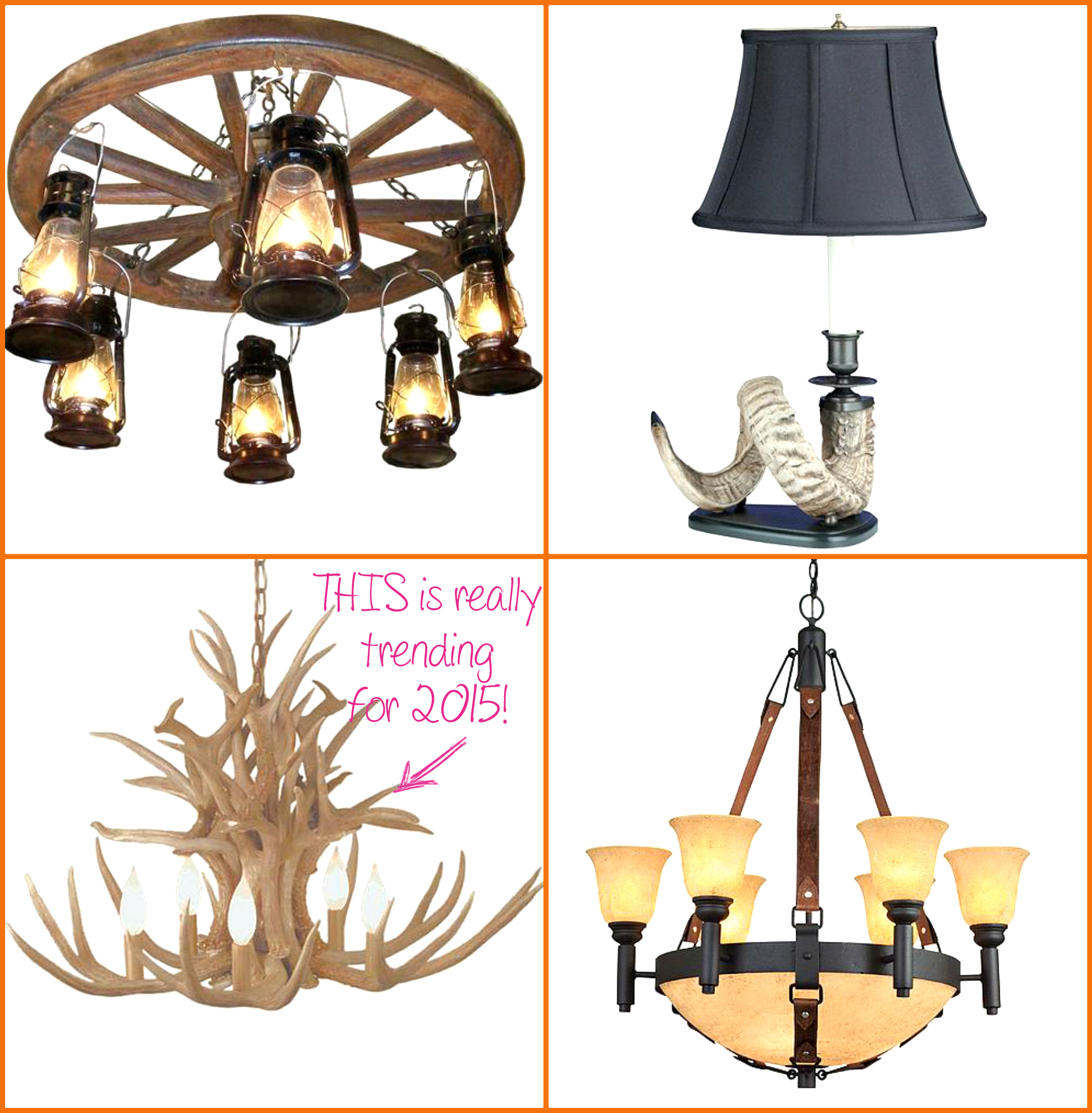 1 rocky-mountain-cabin-decor-lamps-better-decorating-bible-blog-rustic-cottage-country-style-cowboy-western-decor-antler-lamp-horse-bridle-chnadelier-hanging-lantern-wagon-wheel-light