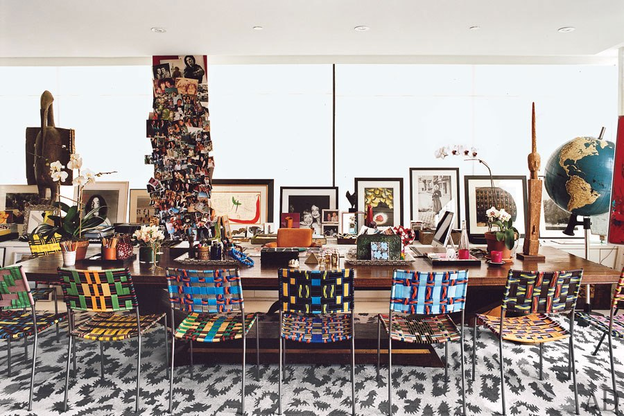 House of dvf a sneak peak tour of diane von furstenberg 39 s stunning home - Bureau style new york ...