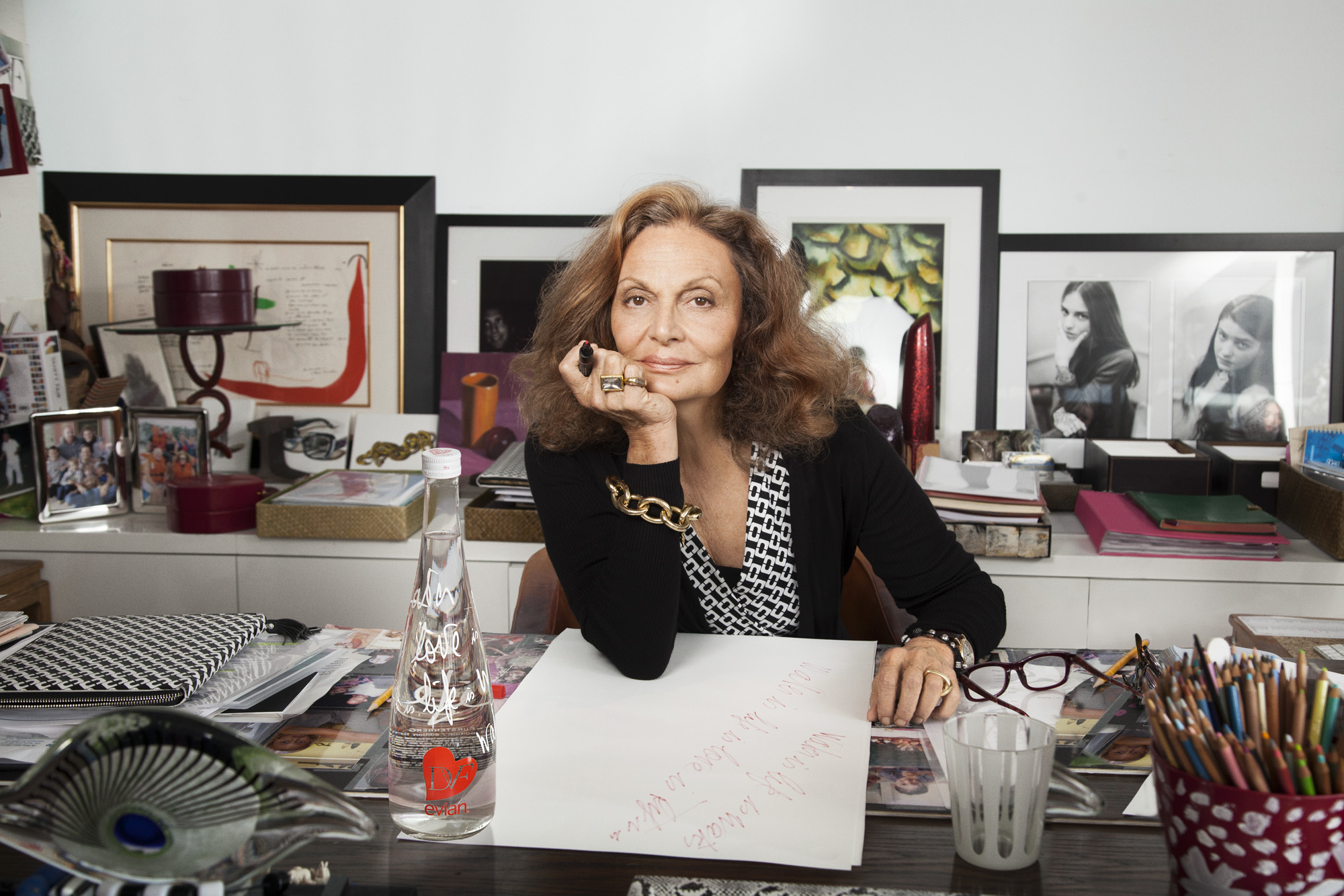 house of dvf diane von furstenberg penhouse tour inside celebrity homes new york penthouse office sneak peak better decorating bible blog