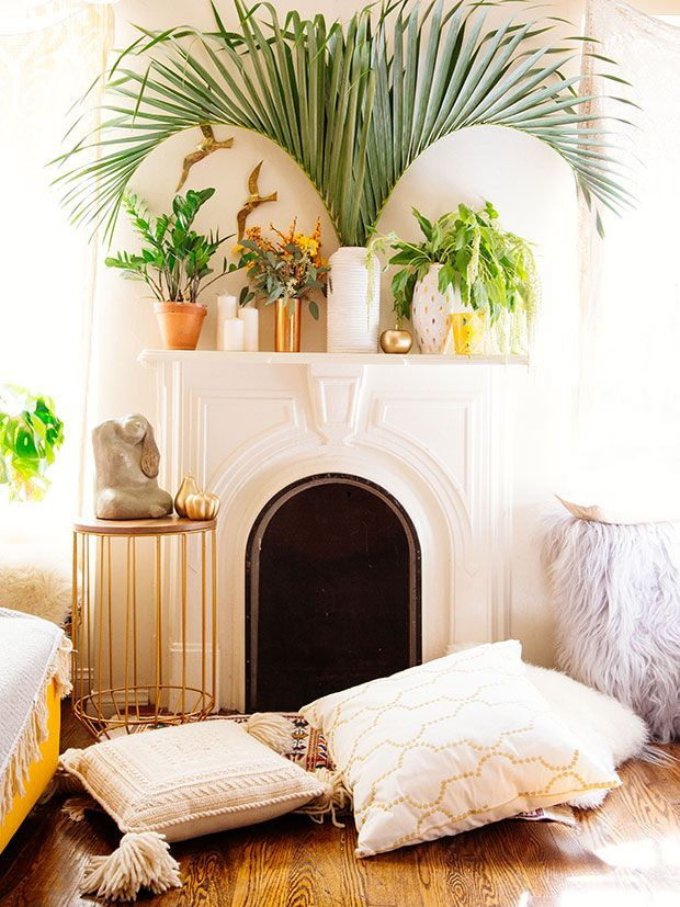palm leaves in vase better decorating bible blog houseplant decor mantel easy