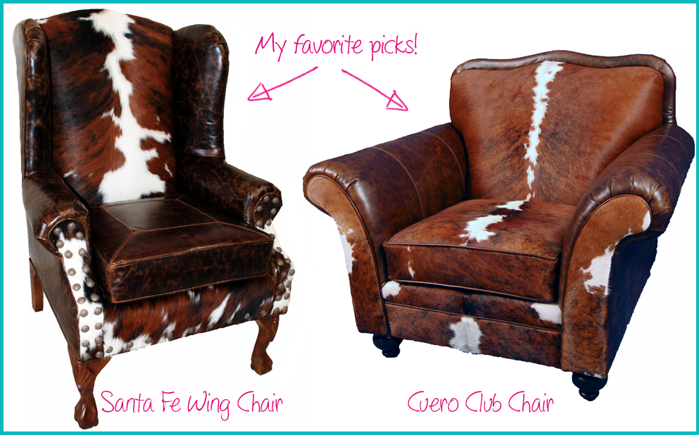 Rocky Mountain Decor Cow Hide Chairs Sofas Lounge Brown Leather Western Style Cottage Country Ski Lodge