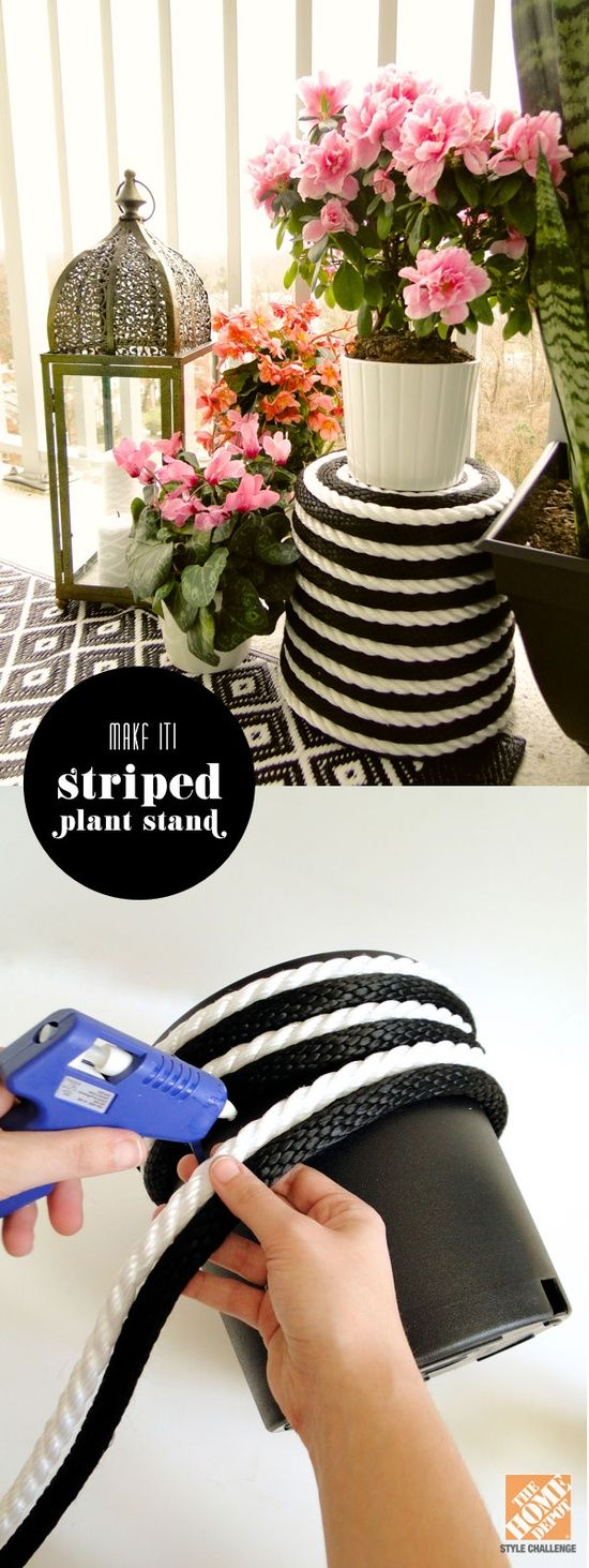 rope stand planter easy glue home depot diy idea better decorating bible blog