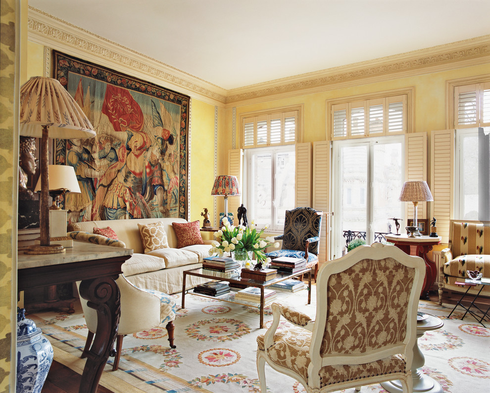 Turn back the clock in this opulent historical mansion fit for Classic traditional living rooms
