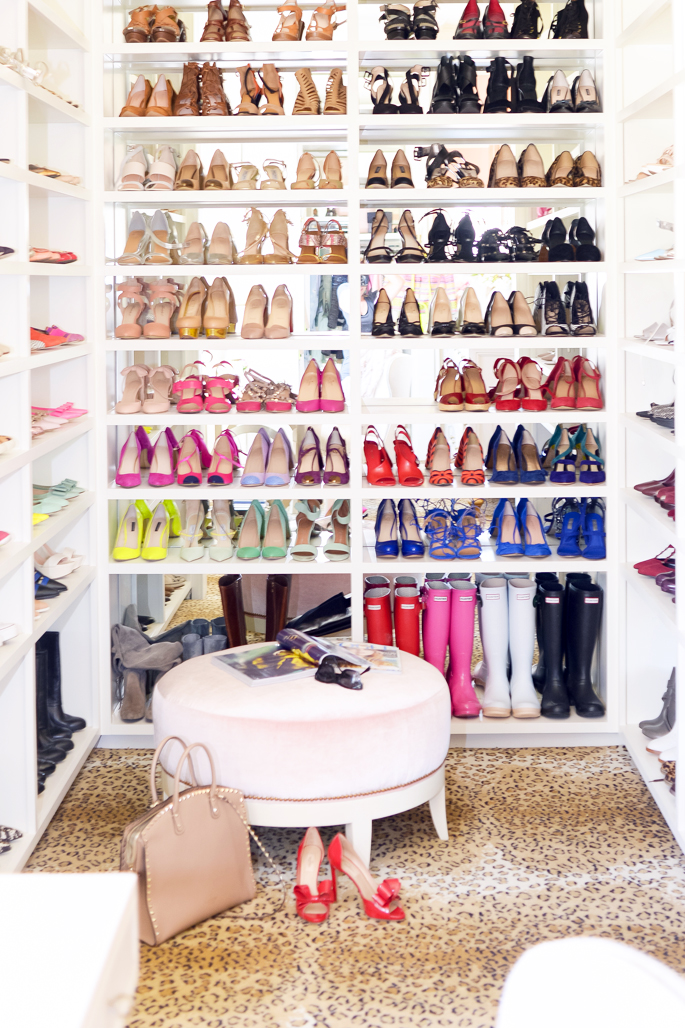 14 dream closet office leopard carpet white gold desk chandelier mirrored shelves tour better decorating bible blog ideas gold knobs chic girly walk in closet wardrobe