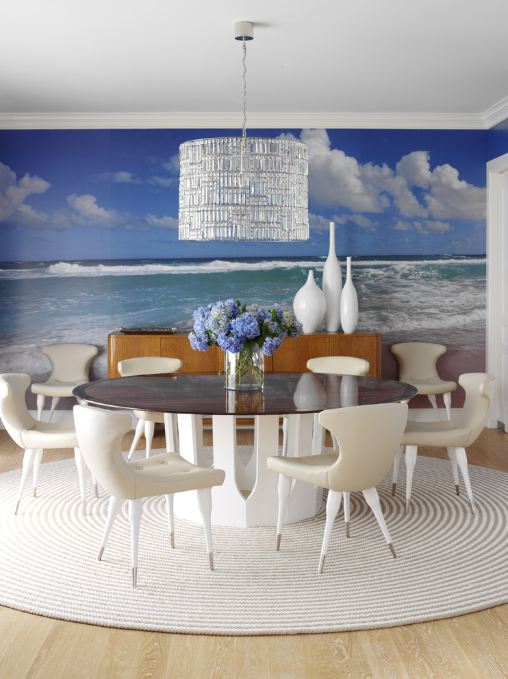 retro style decorating dining room 50s 60s wall mural ocean blue rope round rug ideas how to fads furniture