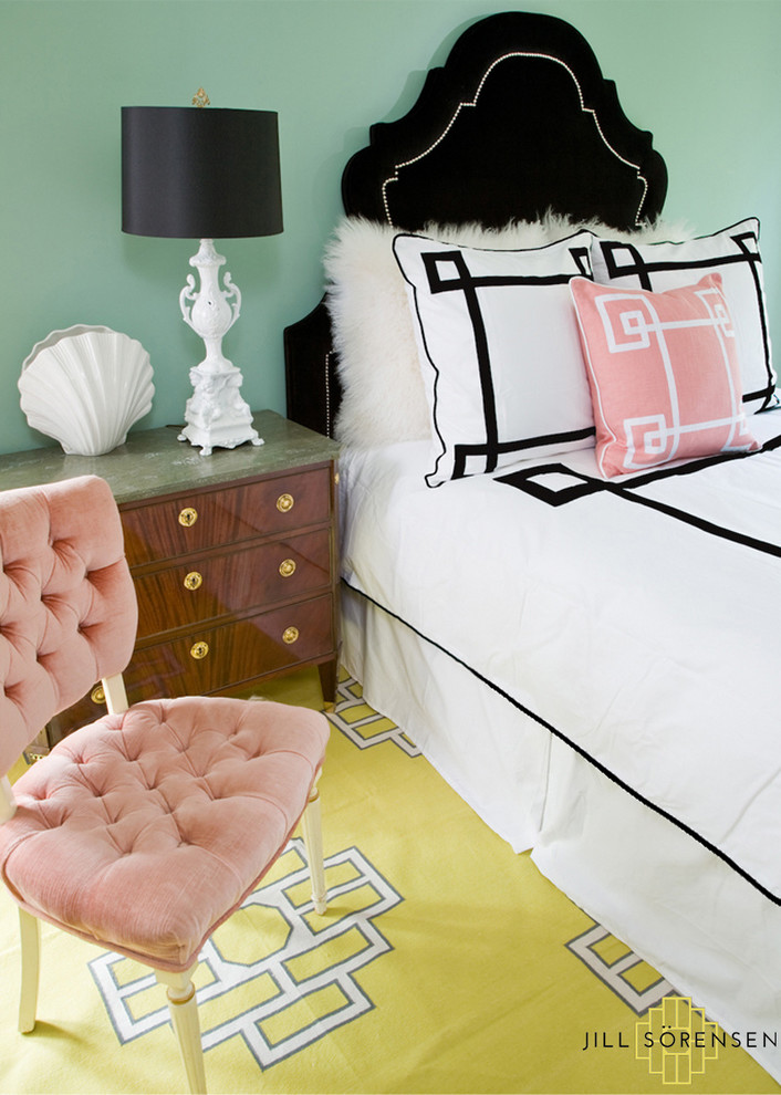 greek key pillow covers tufted pink chair black velvet studded headboard bedroom better decorating bible mint green walls ideas