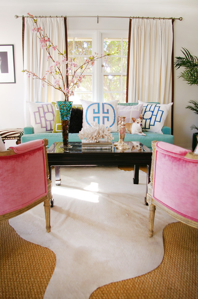 vintage style decor how to pink antique chairs cow hide rug sisal rug better decorating bible blog