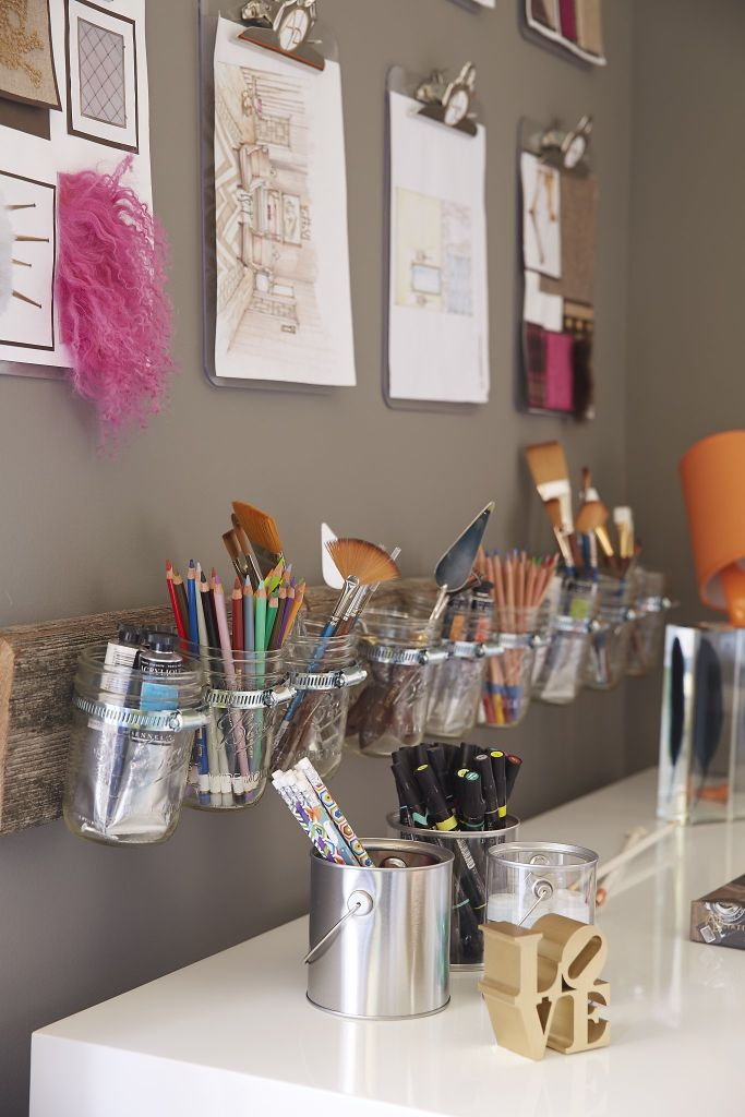 art studio storage mason jars ideas diy