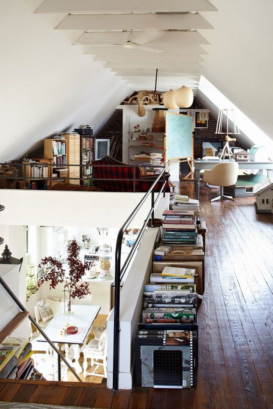 attic art studio ideas decorating