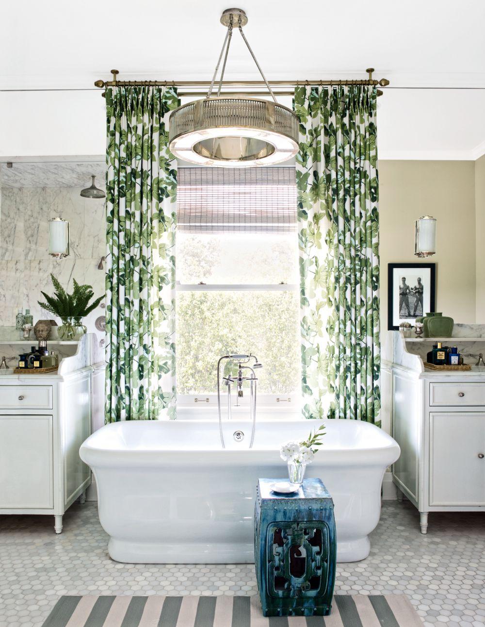 banana leaf curtains garden stool honey comb tiles better decorating bible blog spa like bathroom how to