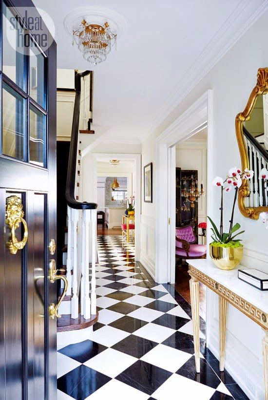 Dream Home Decorating Ideas neat hallway decorating ideas of simple stylish dream home ideas dream house hallways design ideas dream hallway design and decoraion ideas great Gold Lion Door Knocker Black White Checkered Floor Glamorous Home Decor Ideas Better Decorating Bible