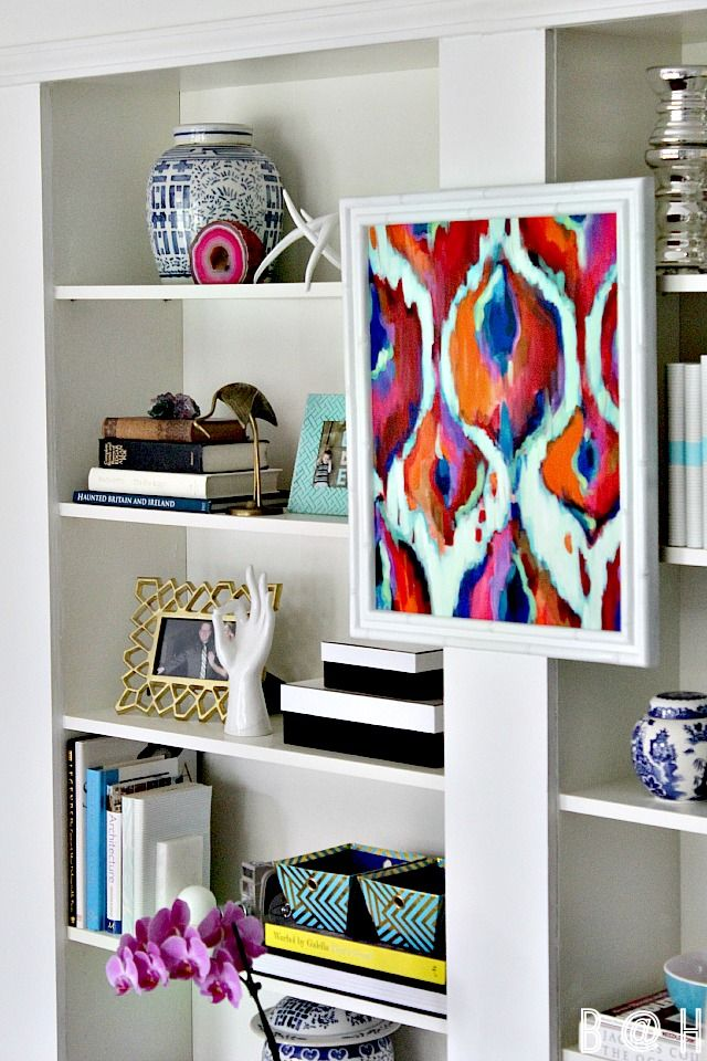 how to decorate bookcase bookshelf styling easy