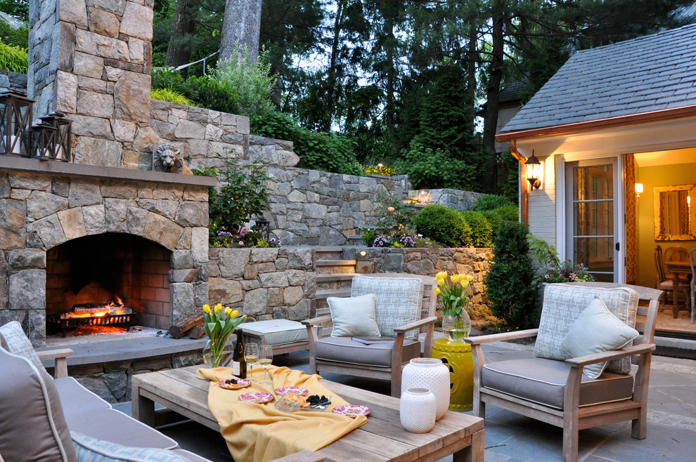 7 Patio Must-Haves for Summer Entertaining ... on Small Outdoor Fireplace Ideas id=75774