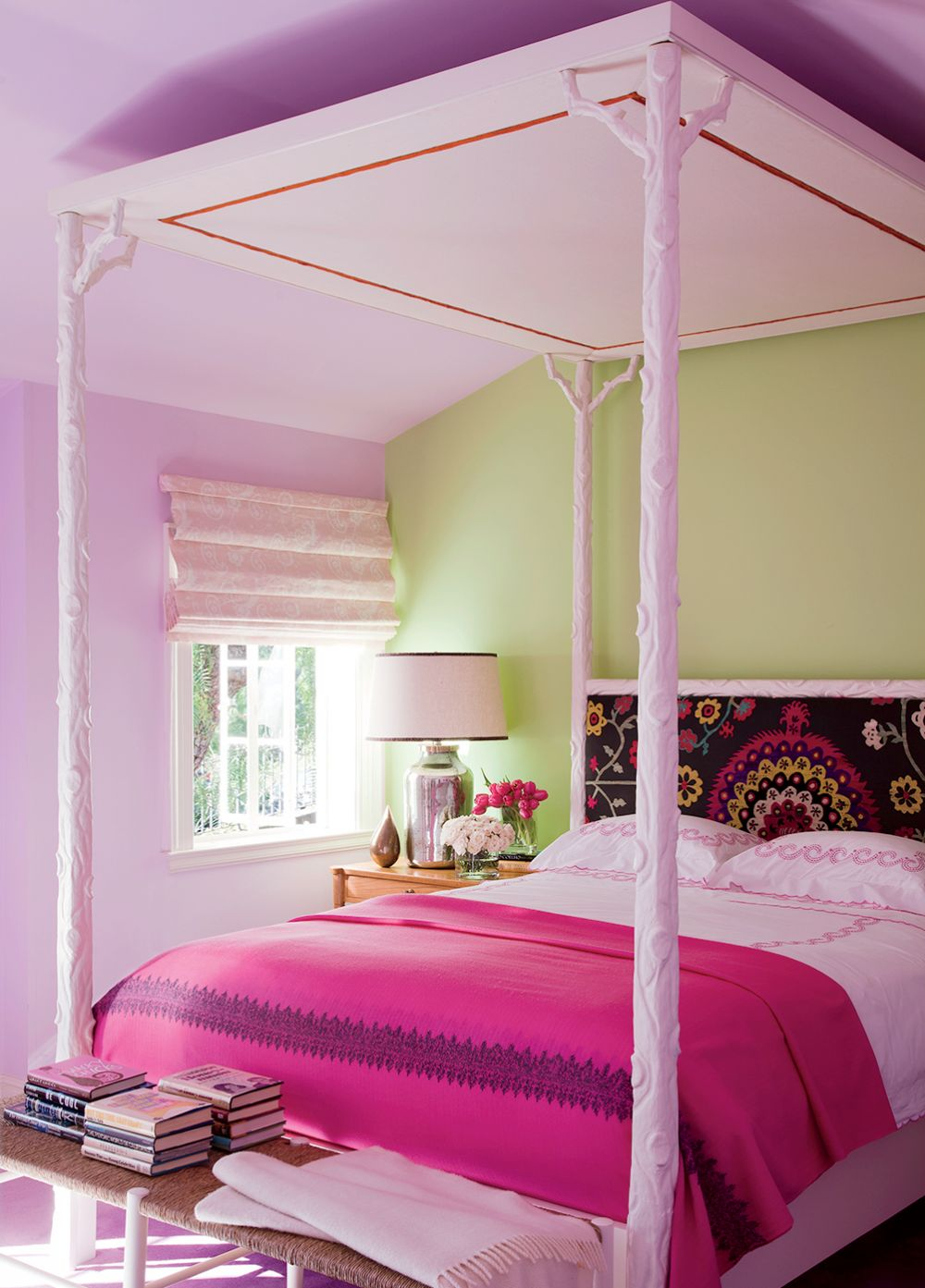 Paisly Headboard Canopy Bed Made From Branches Pink S Room Better Decorating Blog