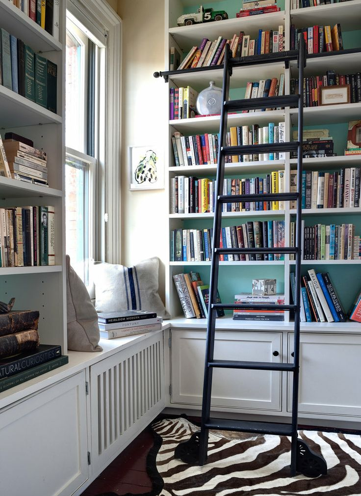rolling ladder bookcase decorating how to ideas easy