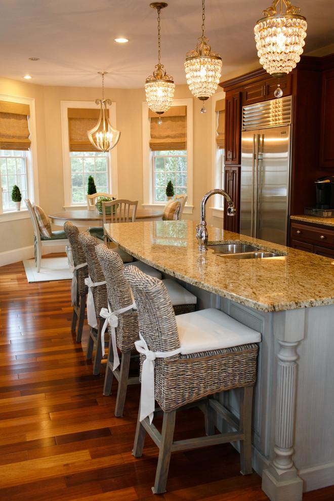 Brazilian Koa Hardwood Flooring kitchen shiny marble granite countertop better decorating bible blog