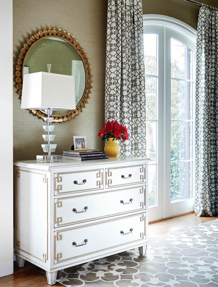bedroom decor ideas gold sunbirst mirror greek key dresser better decorating bible blog