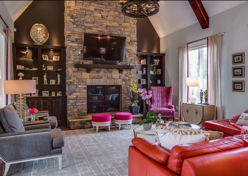 Living Room Stone Fireplace Decor Better Decorating Bible Blog Accent Wall
