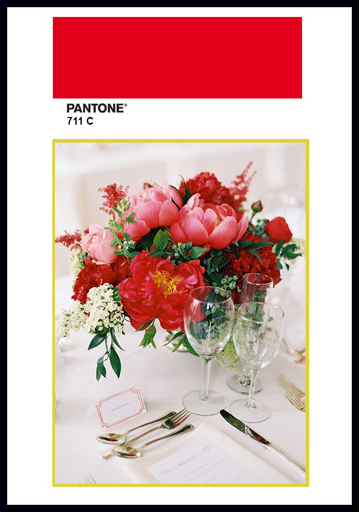 pantone decor 2015 color trends flowers aurora red decor