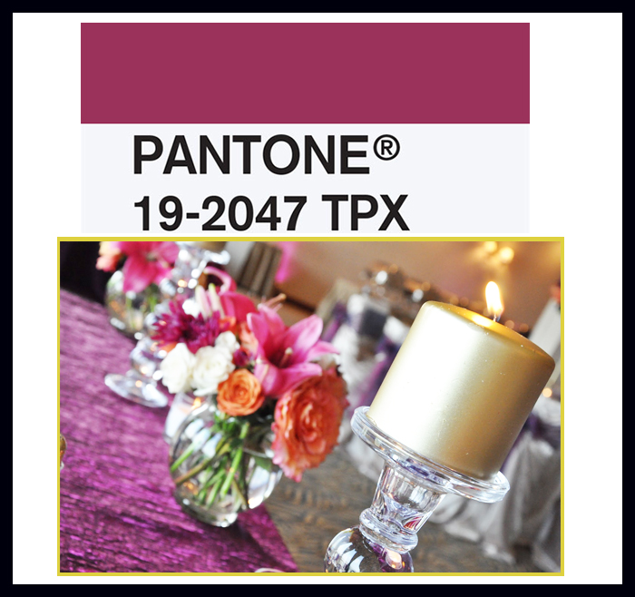 pantone sangria color decor table wedding better decorating bible blog ideas centerpiece candle table runner