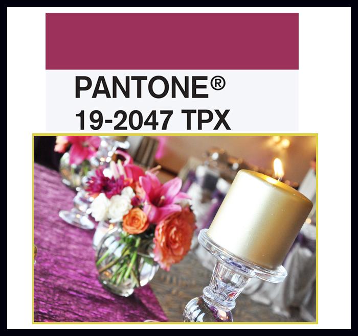 pantone sangria color decor table wedding better decorating bible blog ideas centerpiece candle table runner