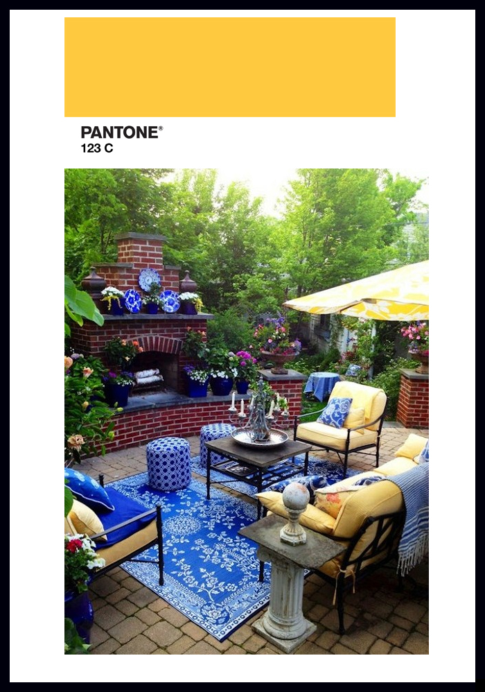 pantone yellow decor color trends 2015 patio furniture