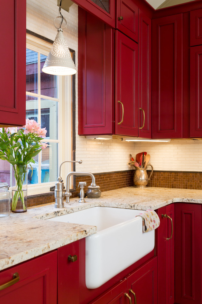 Red Kitchen Cabinets ~ Interior decorating design ideas inspirations photos