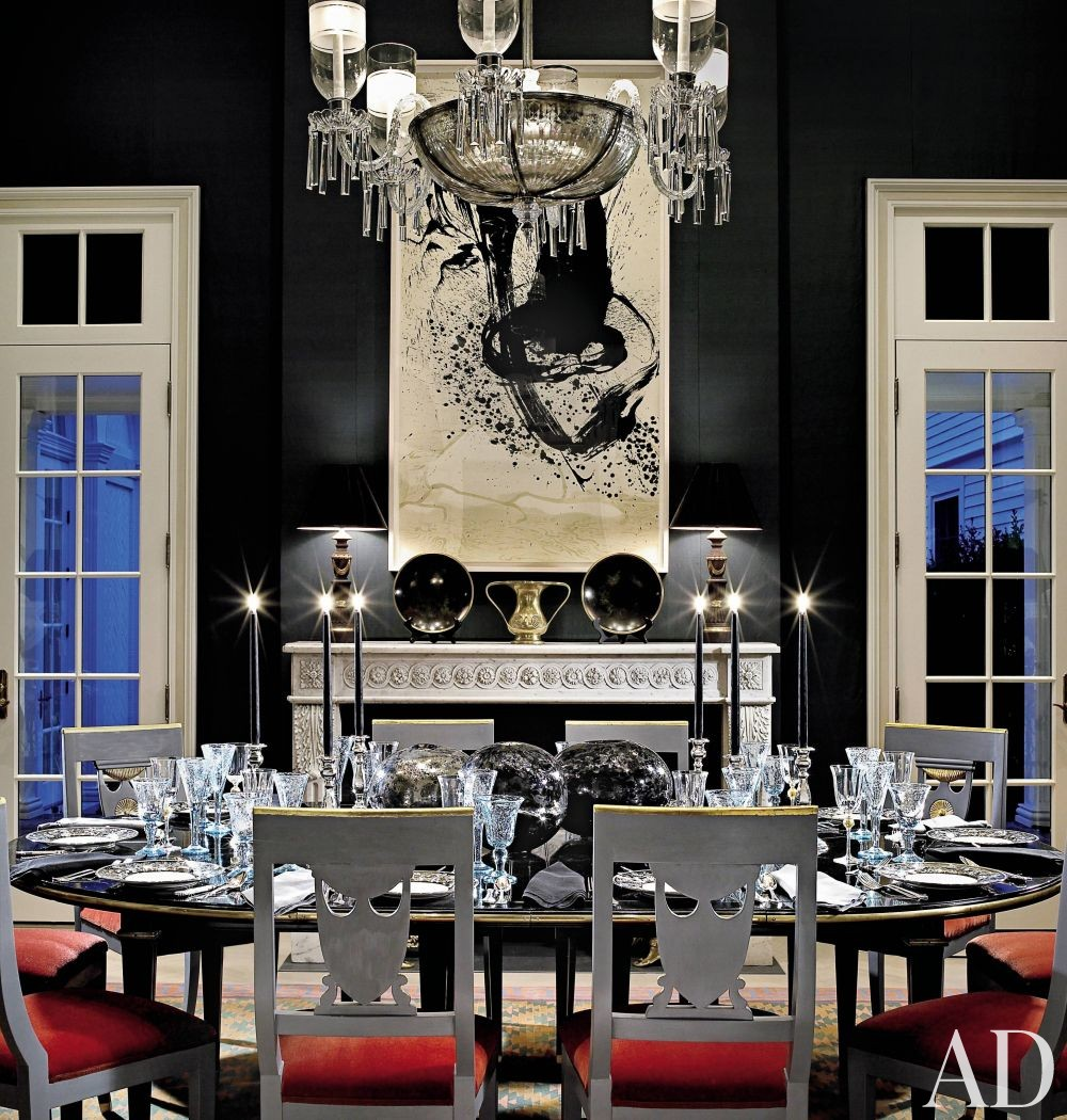 How to hang artwork in your home the on center rule for Dining room art