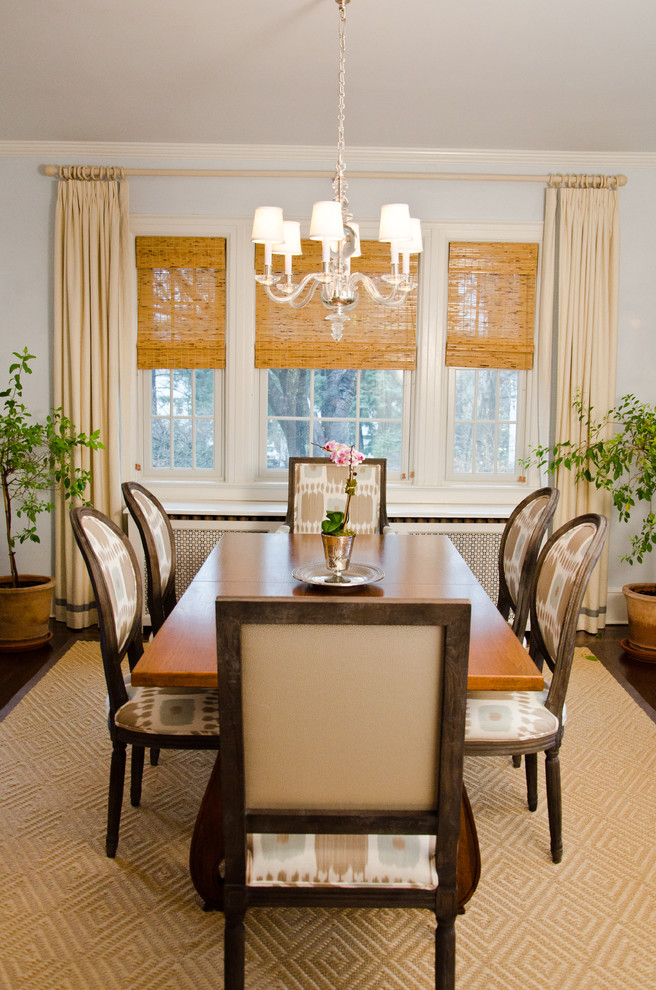 How to brighten up a bad view with window blinds curtains for Dining room window treatments