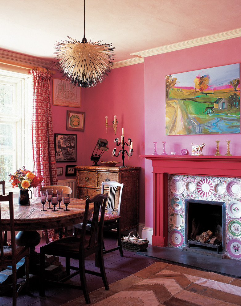 pink dining room fireplace diy decor with plates mosaic ideas better decorating bible blog