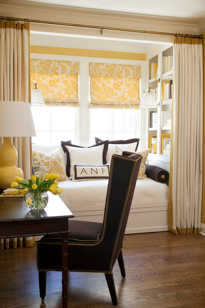 reading nook at window decorating ideas window seat yellow