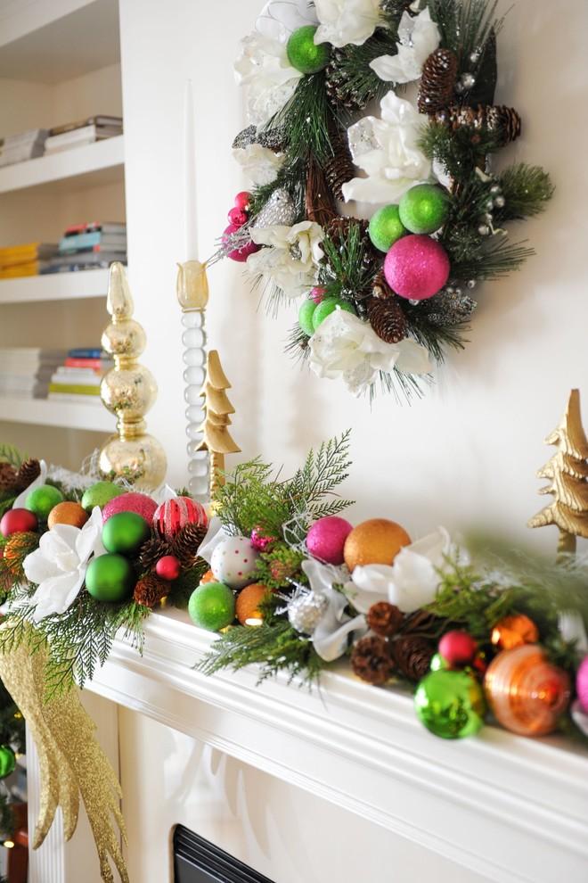 christmas holiday mantel decor diy ideas