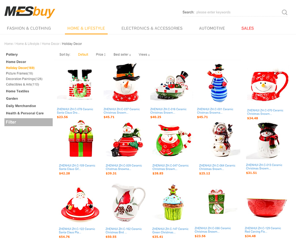 Online Christmas Ping Christmas Decore