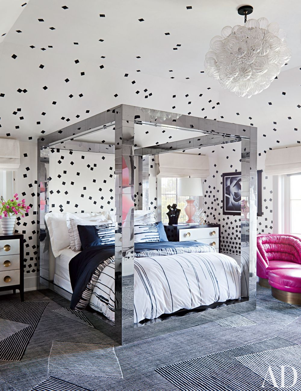 disco room decor mirrored bed frame black and white better decorating bible blog