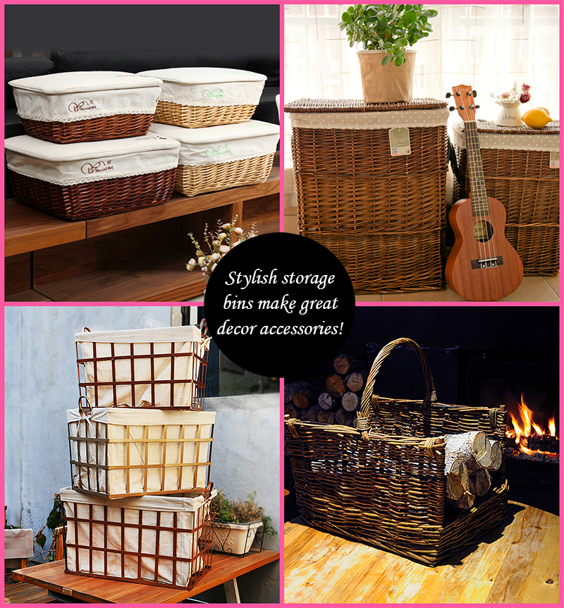 Baskets home decor for Home decorative accessories shopping