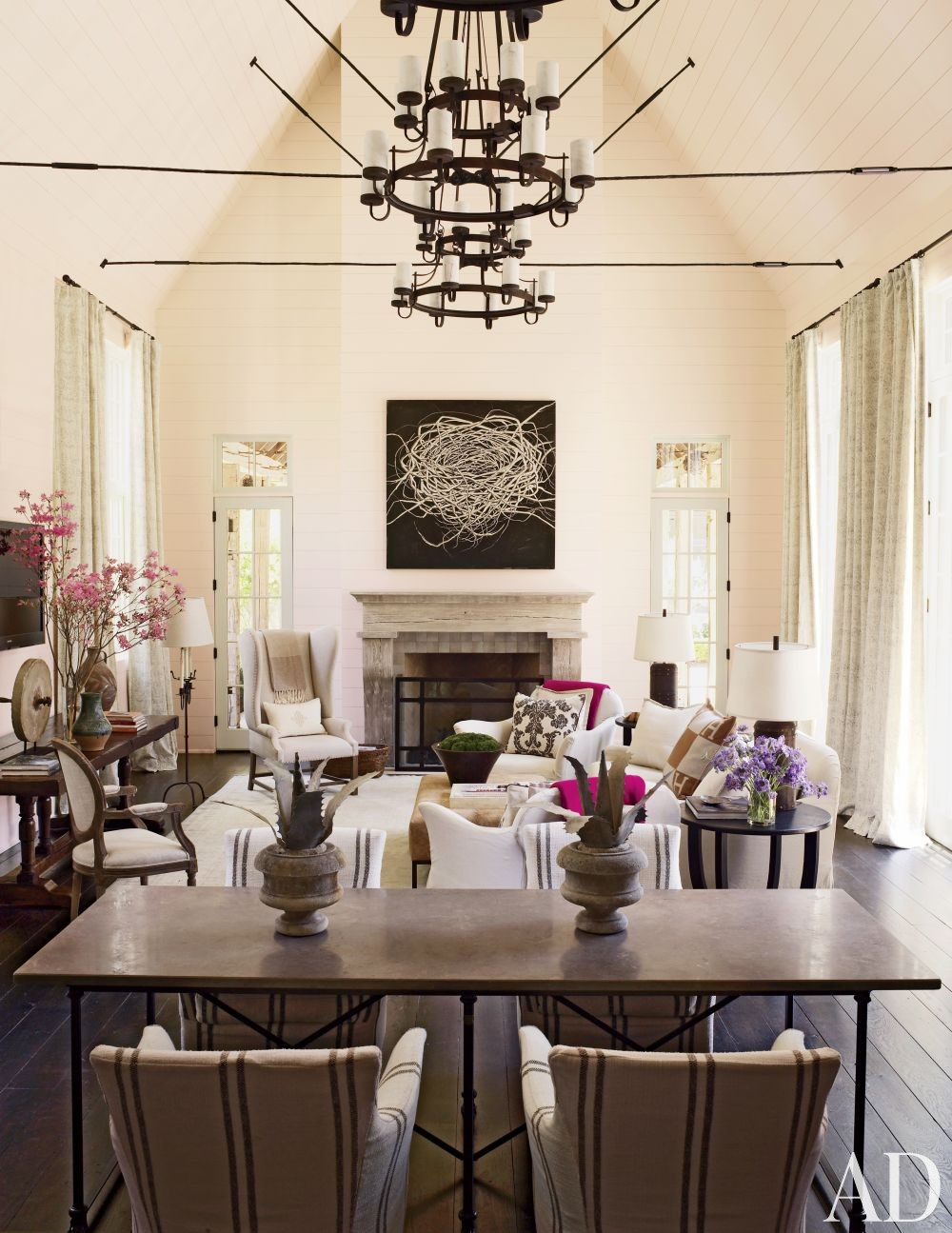 rustic living room artwork candle chandelier ideas white taupe grey dining room hermes pillow better decoratng bible blog