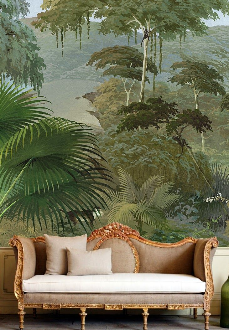 Interior decorating design ideas inspirations photos for Designer wallpaper mural