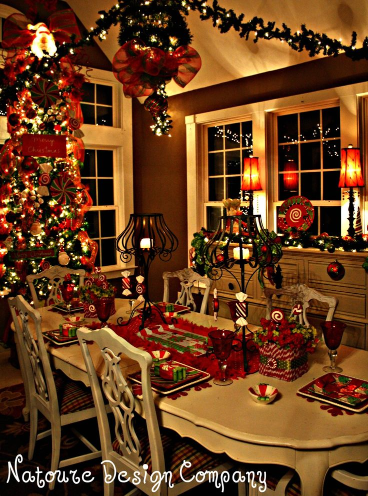 christmas dining room decor ideas table setting holidays garland