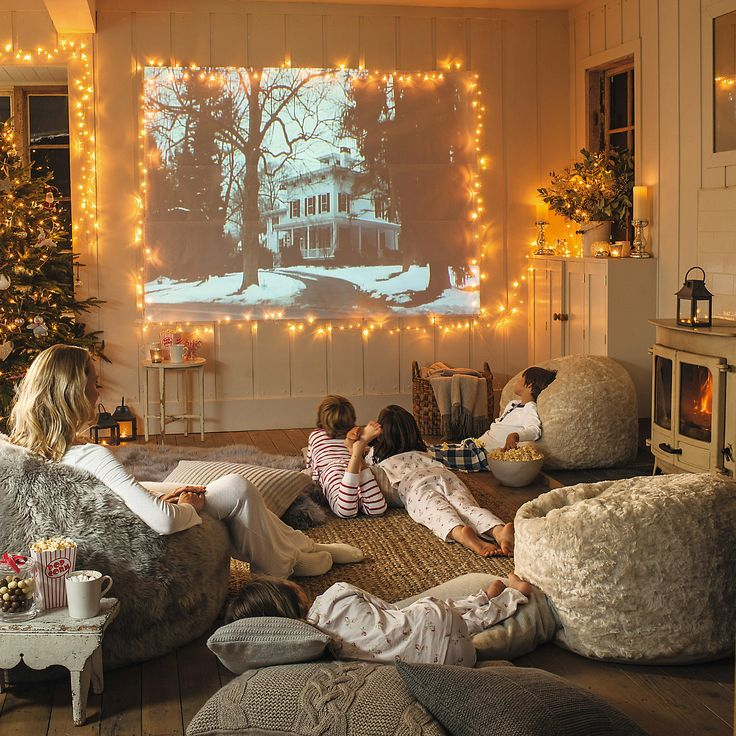 christmas holiday decor bean bag room movie room decor ideas