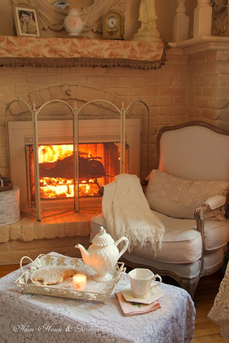 cozy christmas holiday decor fireplace tea time ideas