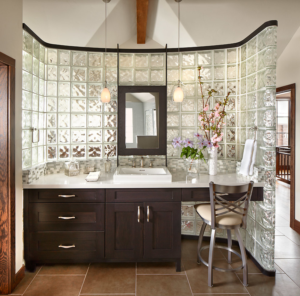 glass tiles stacking cubes bathroom decor
