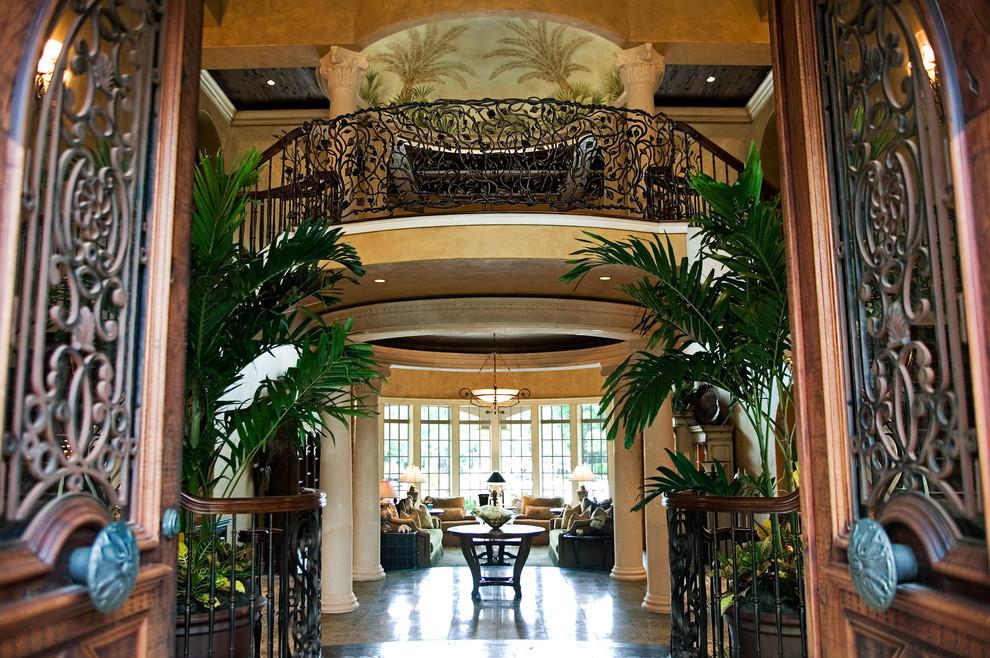 grand entrance mediterranean mansion house entrance wood exotic dark better decorating bible blog home tours ideas