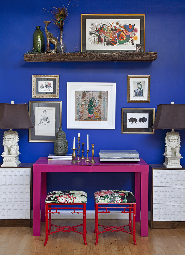 greek blue wall better decorating bible blog painting a wall blue fuschia pink