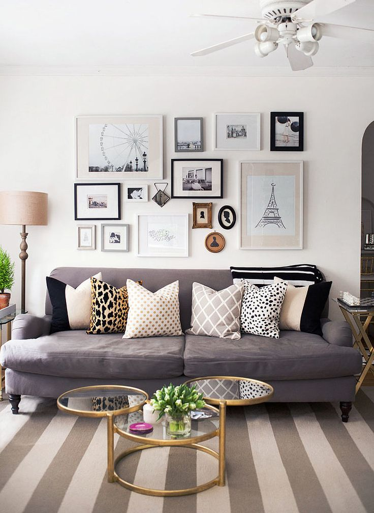 grey decor leopard pillow gold coffee table saloon wall frame collage better decorating bible blog
