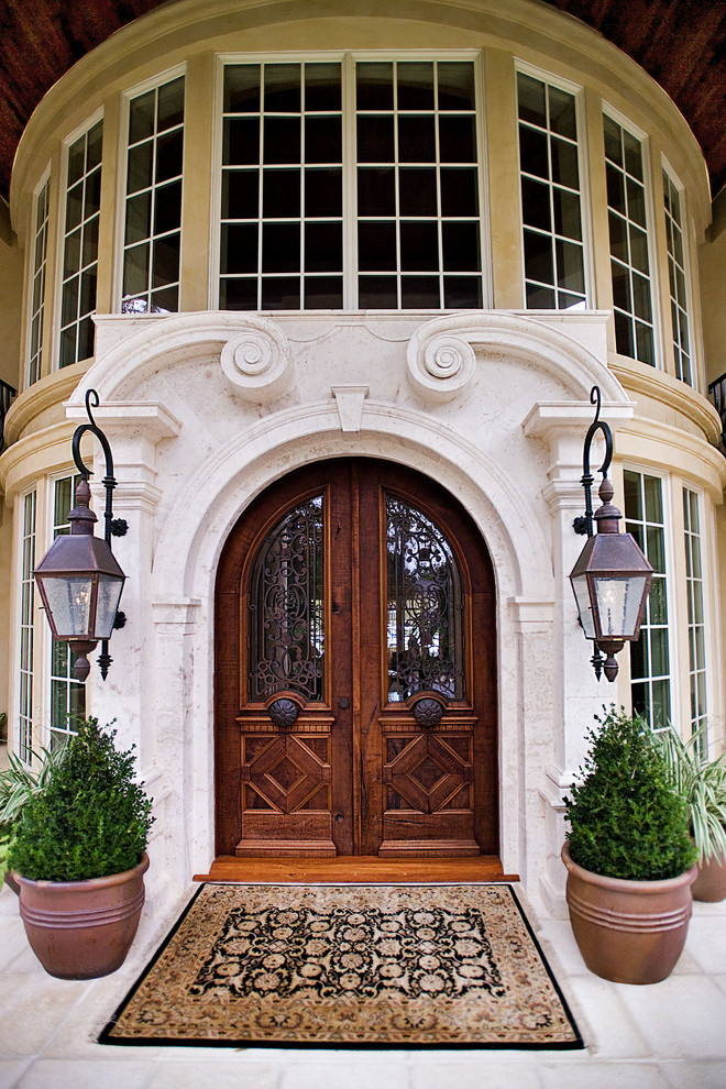 heavy wooden doors mediterranean mansion house entrance wood exotic dark better decorating bible blog home tours ideas