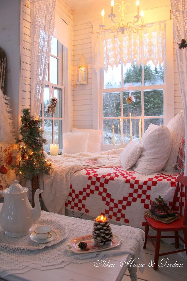 holiday christmas ideas decor shabby chic