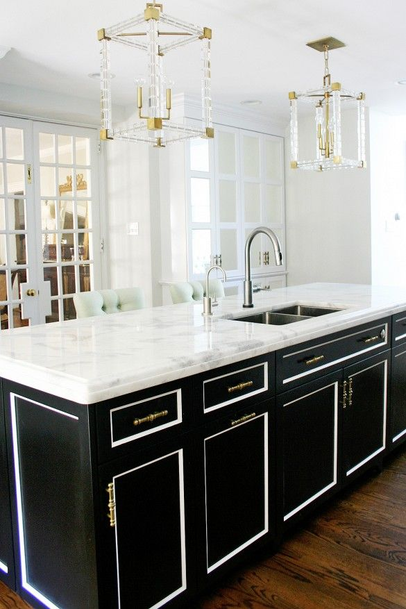 lucite chandeliers blacka nd white kitchen gold knobs decorating bible