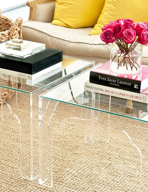 lucite coffee tables decor blog
